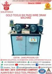 Gold Tool 6 Pass Wire Drawing Machine For Gold & Silver