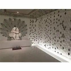 Radha Krishna Marble Temple Inlay And Dewdrop