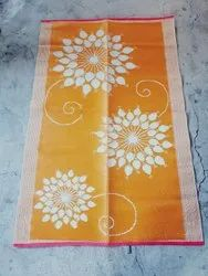 Orange 6 By 9 Feet Printed Plastic Floor Mats, For Indoor and Home