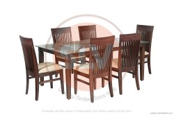 Wooden Dining Set Made Out Of Teak Wood, Beech Wood, And Red Cedar Wood