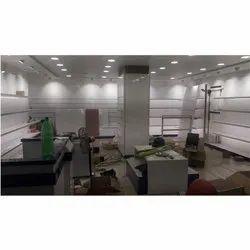 Wooden MDF Showroom Interior Decorative Service, Work Provided: Wood Work & Furniture