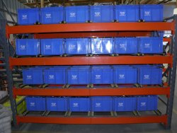 FIFO Metal Storage Rack