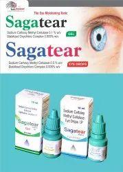 SAGAtear Eye Drop Sodium Carboxy Methylcellulose 0.5% W/V