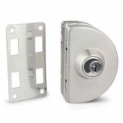 CR-GL-03 Wall to Glass Door Lock with Key & Knob