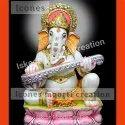 Veena Ganesha Figurine