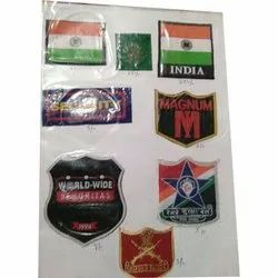 Computerized Woven Uniform Labels, For Garments, Packaging Type: Packet