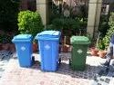 Wheeled Plastic Dustbin Outdoor Trash Can