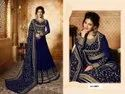 Heavy Faux Georgette With Embroidery Work Gown