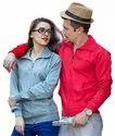 Red Unisex Prabhug Cotton Crew Neck Sweatshirt