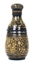 Nirmala Handicrafts Brass Meenakari Bottle Decorative Showpiece And Gift Item