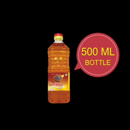 Kachchi Ghani Krishiv 500 ml Mustard Oil, Packaging Type: Plastic Bottle
