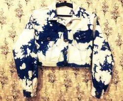 Women Tie Dye Crop Jacket