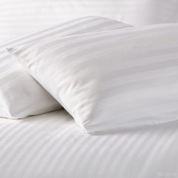 White Satin Stripe Fabric 350 T.C