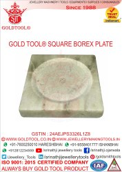 Gold Tool Jewellery Square Borex Plate