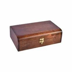 Brown Rectangle Etnica Mahogany Wooden Box, For gifting purpose, Size: 27.94 X 17.78 X 7.62 cm