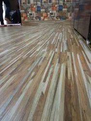 Rectangular Striped PVC Flooring Carpet