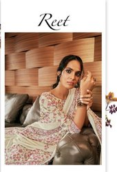 Glossy Reet Pure Pashmina Digital Print Dress Material Catalog