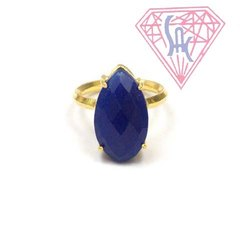 Dyed Blue Sapphire Gemstone Ring