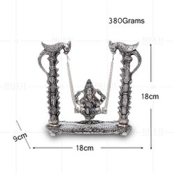 Silver Plated Ganesh Jhoola