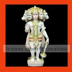 4.5 Feet Marble Hanuman Statues