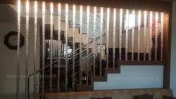 Standard Multicolor Acrylic Bubble Rods For Interior Design, Size: Upto Meter