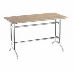 Silver Rectangle Daksh International Stainless Steel Cafeteria Table, , Seating Capacity: 4, Size: 4X2