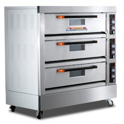 Electric Pizza Oven 3 Deck 6 Tray