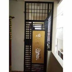 MS 6.5 Feet Mild Steel Swing Gate, For Home