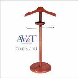 AV&T Dark Wood Wooden Coat Stand, Size: 30 Inch Hight