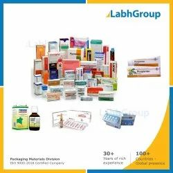 Printed Folding Carton Box For Pharmaceuticals Packaging
