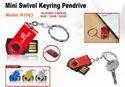 Mini Swivel Pendrive With Keyring H-1083