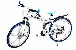 Land Rover White 6S Foldable Cycle