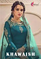 Kesari Trendz Khawaish Satin Georgette With Emboidery Work With Daimand Salwar Suits Catalog