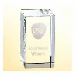 BL 716 Crystal Table Top Trophy