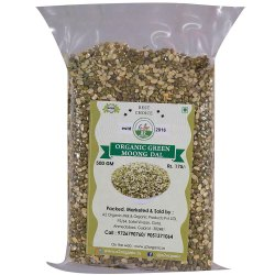 Organic Chilka Green Moong Dal, High in Protein, Packaging Size: 500 Gm