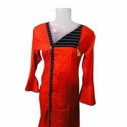 Casual Wear Bell Sleeve Ladies Designer Rayon Kurti, Wash Care: Handwash