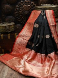 VIRANI Festive Wear Festival Traditional Special Lichi Silk Sarees, 6.3 m (with blouse piece)
