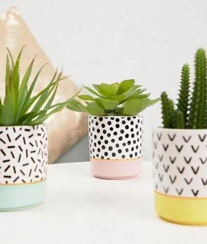 Round Decorative Ceramic Pottery, For Decoration