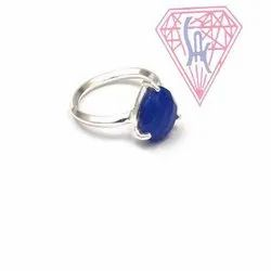 Dyed Blue Sapphire Jewelry Ring