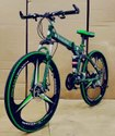 Green Mercedes Benz 3s Foldable Cycle
