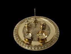 Brass Pooja Thali Set Classic
