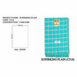 Superking Plain Cotton Check Towel, Rectangular, Size: 30x60 Inches
