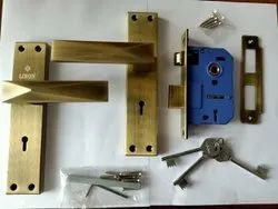 Ky Antique Brass Finish Mortise Lockset