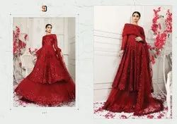 Unstiched Pakistani Embroidered Suits