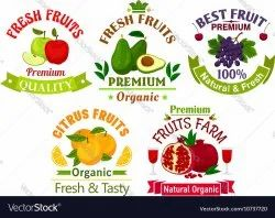 Printed Fruits Label