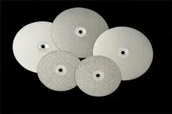 Silver Stainless Steel Gemstone Diamond Disc, For Industries