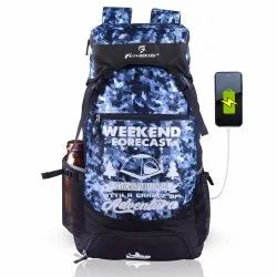 55 Litre Camo Rucksack With USB Charging Port