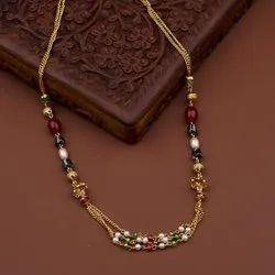 1 Multicolor Ladies Artificial Necklace Mala