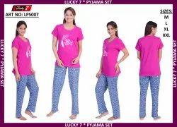 Lucky 7 Printed LPS007 Ladies Pyjama Set