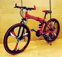 Red Land Rover Foldable Cycle